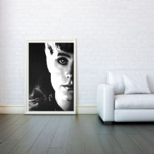 Blade Runner, Sean Young, Decorative Arts, Prints & Posters, Wall Art Print, Poster Any Size - Black and White Poster